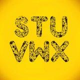 Dot Alphabet van S aan X Stock Fotografie
