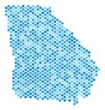 Dot American State Georgia Map bleu illustration de vecteur
