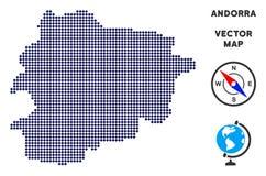 Dot Andorra Map stock illustratie
