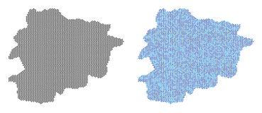 Dot Andorra Map Abstractions Illustration Stock