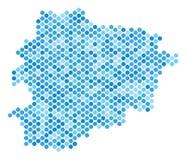Dot Andorra Map bleu Images stock