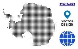 Dot Antarctica Map ilustração royalty free