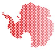 Dot Antarctica Map rouge illustration de vecteur