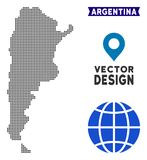 Dot Argentina Map illustration stock