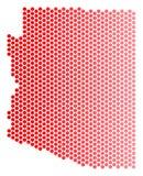 Dot Arizona State Map rojo libre illustration