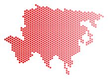 Dot Asia Map rouge illustration de vecteur