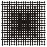Dot background. In vector - black and white Royalty Free Stock Photo