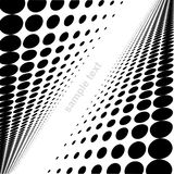 Dot background. In vector - black and white Royalty Free Stock Image