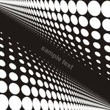 Dot background. In vector - black and white Stock Photography