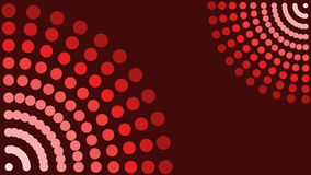 Dot background. Red vector background made from dots, 16:9 size Stock Photo