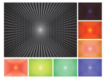 Dot backgrounds. Set of abstract vector dot backgrounds Stock Photos