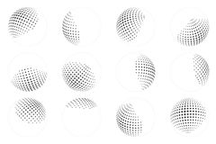 Dot ball sphere abstract design element set vector illustration Royalty Free Stock Photography
