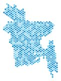 Dot Bangladesh Map bleu Image stock