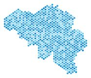 Dot Belgium Map blu Royalty Illustrazione gratis