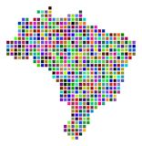 Dot Brazil Map multicolore illustration de vecteur