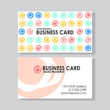 Dot business card Royalty Free Stock Photo