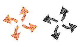 Dot Centrifugal Arrows Mosaic Icons stock illustratie