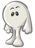 Dot Character Standing Happy Royalty Free Stock Images