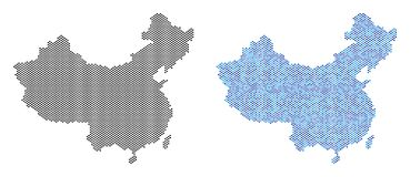 Dotted China Map Abstractions stock illustration