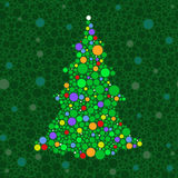 Dot Christmas tree Stock Image