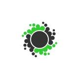 Dot circle vector logo stock illustration
