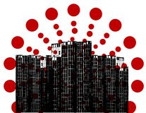 Dot in the city. Royalty Free Stock Photography
