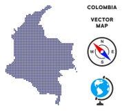 Dot Colombia Map vector illustratie