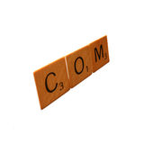 Dot Com. Scrabble letters representing .com royalty free stock photos