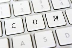Dot COM. Internet E-Commerce and dotcom Royalty Free Stock Image