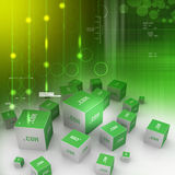 Dot com domain in cubes Stock Images