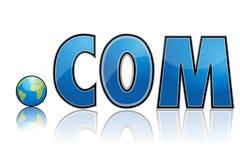 Dot com with globe Royalty Free Stock Photo