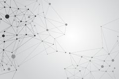 Network Connecting dot polygon background : Concept of Network, Business, Connecting, Molecule, Data, Chemical Stock Image