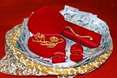 Dot dans la cérémonie l'épousant thaïlandaise, cérémonie l'épousant de tradition dans le mariage original de la Thaïlande image stock