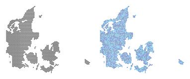 Dot Denmark Map Abstractions illustration de vecteur