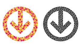 Dot Direction Down Mosaic Icons illustration stock