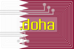 Dot DOHA domain name. Illustration of internet address dot doha domain name Royalty Free Stock Images