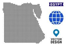Dot Egypt Map vektor illustrationer