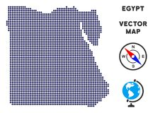 Dot Egypt Map vektor illustrationer