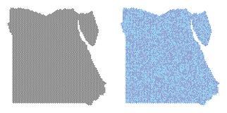Dot Egypt Map Abstractions stock illustrationer