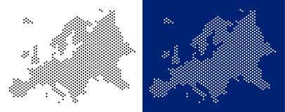 Dot Europe Map ilustración del vector