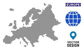 Dot Europe Map stock de ilustración