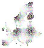 Dot European Union Map coloreado multi libre illustration