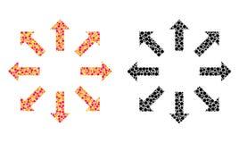 Dot Explode Arrows Mosaic Icons stock abbildung