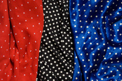 Dot fabrics Royalty Free Stock Images