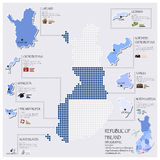 Dot And Flag Map Of Finland Infographic Design. Template Royalty Free Stock Photography