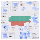 Dot And Flag Map Of Republic Of Bulgaria Infographic Design Stock Photos
