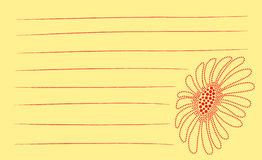 Dot Flower Notes. Flower illustrated using dots with lines for text royalty free illustration