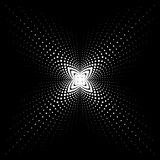 Dot four. Vector geometric dotted pattern, abstract background Stock Photo