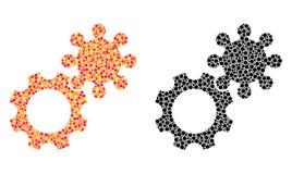 Dot Gears Mosaic Icons illustration de vecteur
