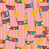 Dot gold glitter line tribal vertical feminine seamless pattern Stock Photos